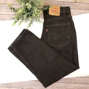 Vintage LEvis 550 Black Striaght Jeans 33 x 30
